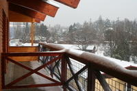 Hostel, first snow...
